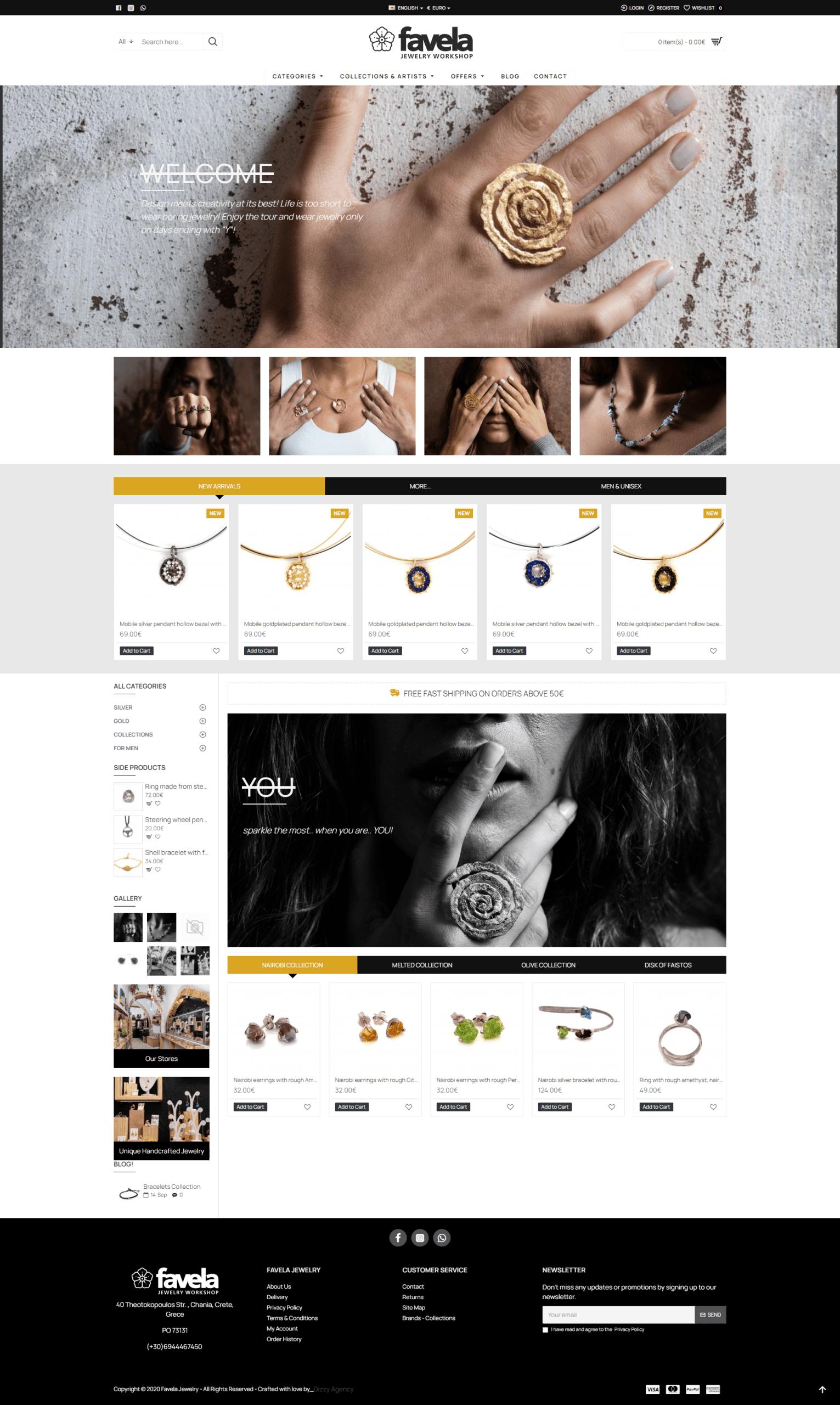 Νέο ηλεκτρονικό κατάστημα για το Favela Jewelry από το Dizzy Agency. 3